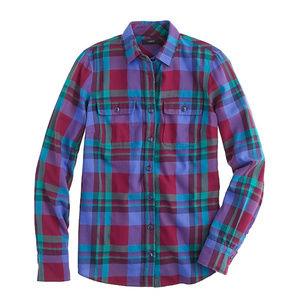 J.Crew | Garnet Flame Plaid Shirt A4